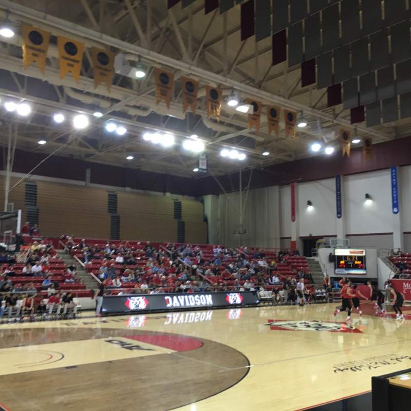 Seating view for John M. Belk Arena Section 5 Row D Seat 2