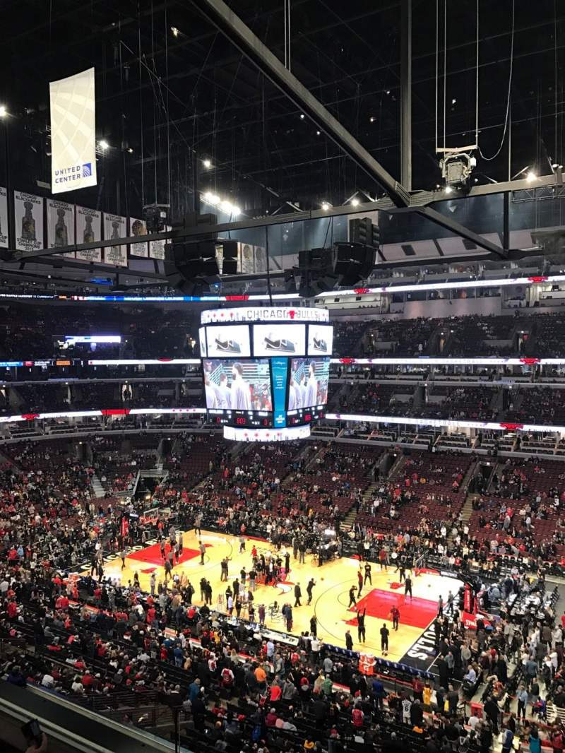 Seating view for United Center Section 332 Row 3 Seat 4