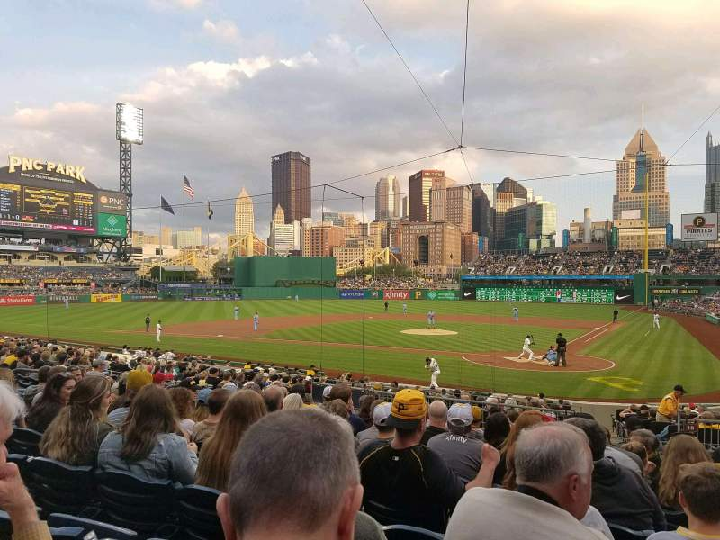 Seating view for PNC Park Section 119 Row L Seat 8