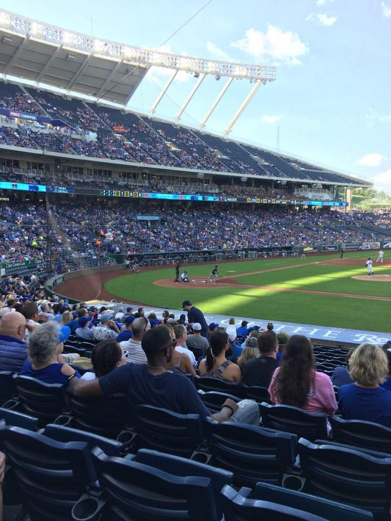 Seating view for Kauffman Stadium Section 135 Row T Seat 7