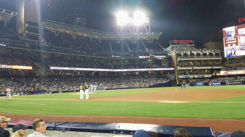 Seating view for PETCO Park Section 113 Row 4 Seat 8
