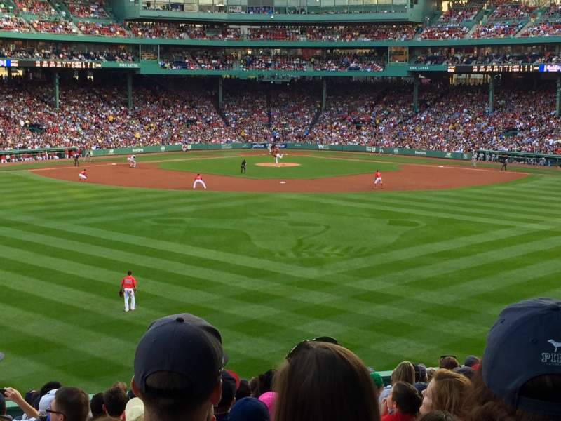 Seating view for Fenway Park Section Bleacher 35 Row 18 Seat 1