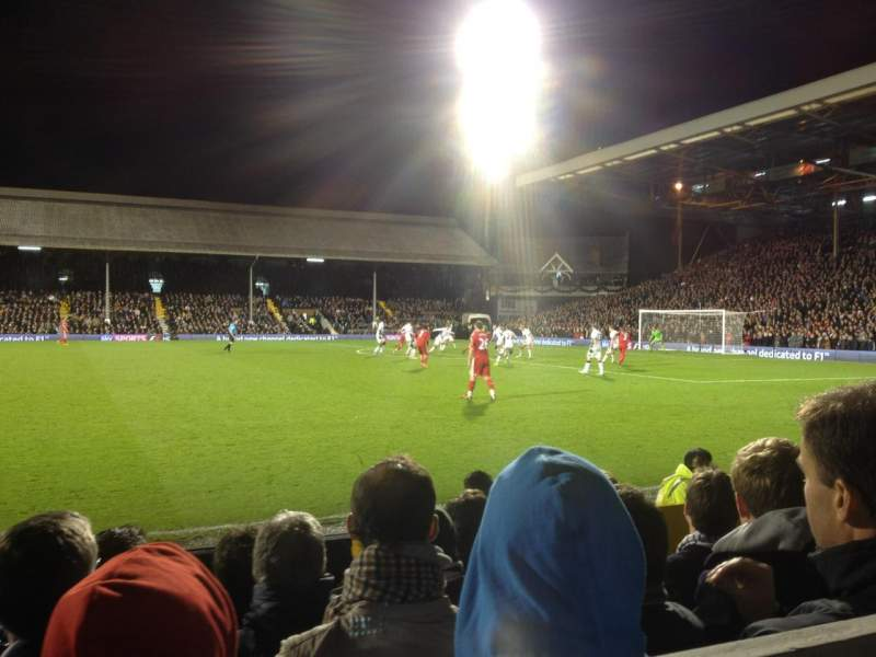 Seating view for Craven Cottage Section X Row 7