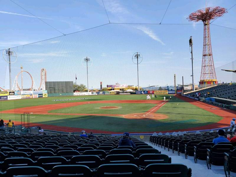 Seating view for Maimonides Park Section 5 Row U Seat 2
