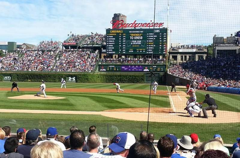 Seating view for Wrigley Field Section 16 Row 8 Seat 4