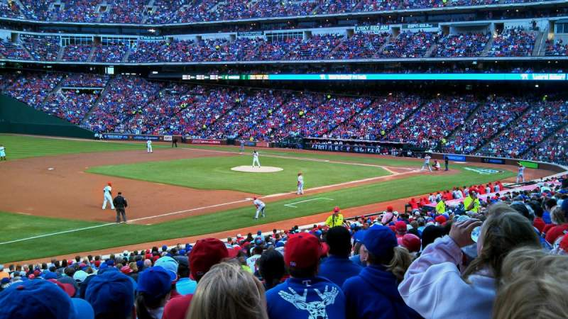 Seating view for Globe Life Park in Arlington Section 15 Row 28 Seat 12