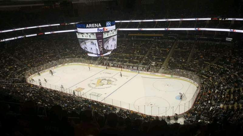 Ppg paints arena section 216 row m seat 13 pittsburgh for Hotels close to ppg paints arena