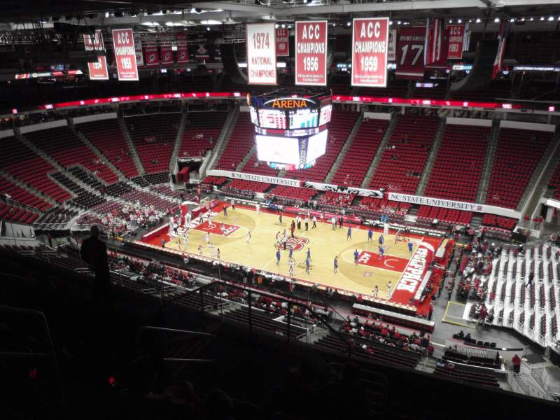 Seating view for PNC Arena Section 302 Row H Seat 11