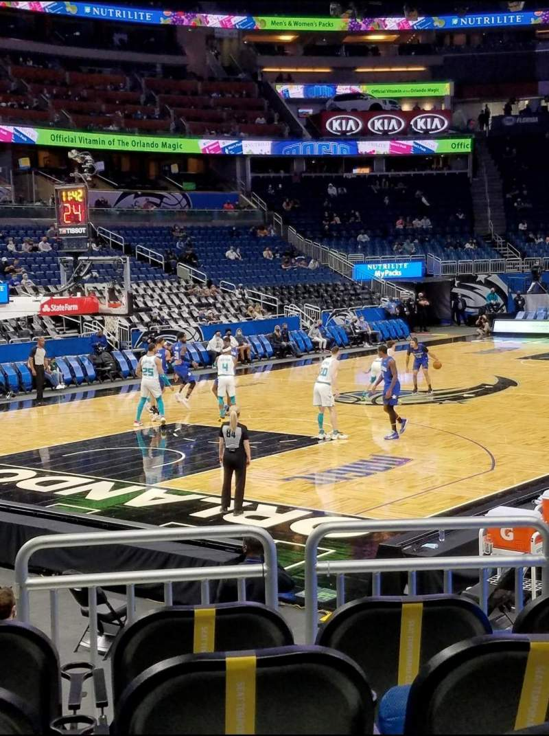 Seating view for Amway Center Section 118 Row 8 Seat 5