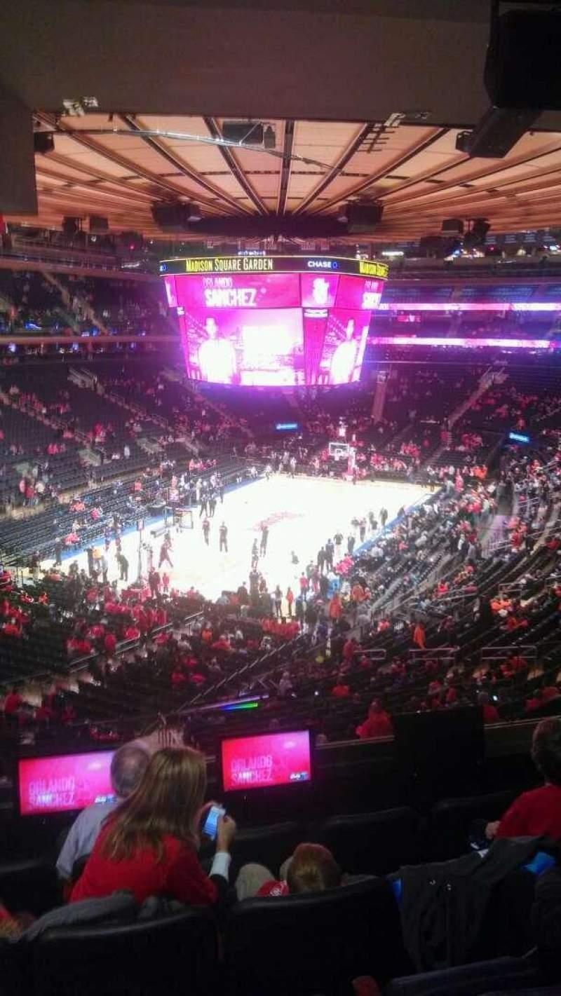 Madison Square Garden: Madison Square Garden, Section 206, Row 5, Seat 13