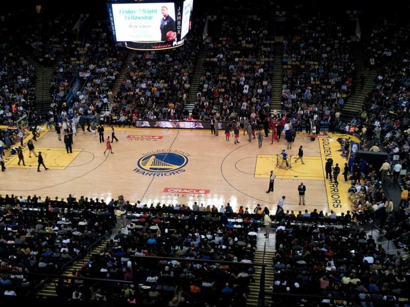 Seating view for Oracle Arena Section 216 Row 15 Seat 5