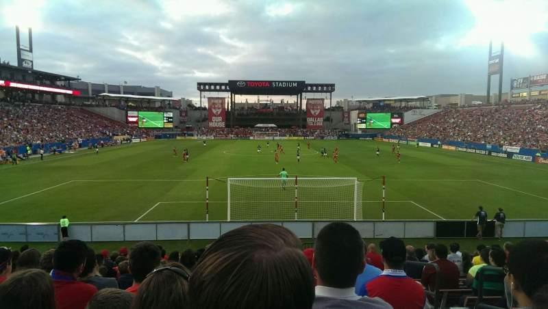 Toyota Stadium, section: 116, row: 14, seat: 22