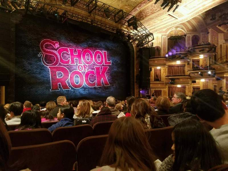 Winter Garden Theatre Section Orchestra Row P Seat 16 School Of