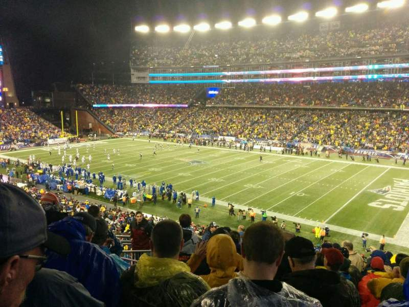 Seating view for Gillette Stadium Section 227 Row 13 Seat 18