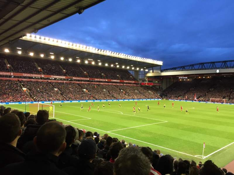 Seating view for Anfield Section 122 Row 22 Seat 0017