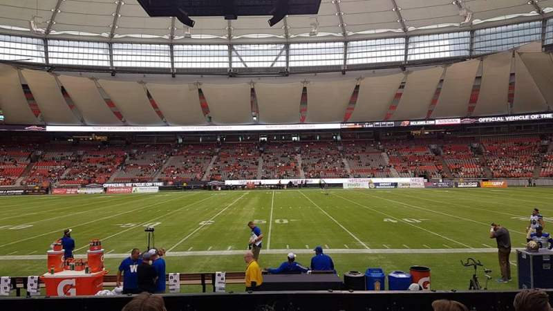BC Place, section: 213, row: D, seat: 111