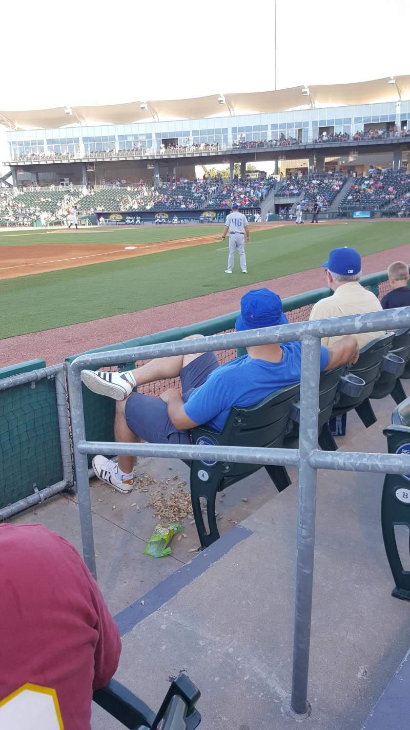 Arvest Ballpark, section: 117, row: 3, seat: 1