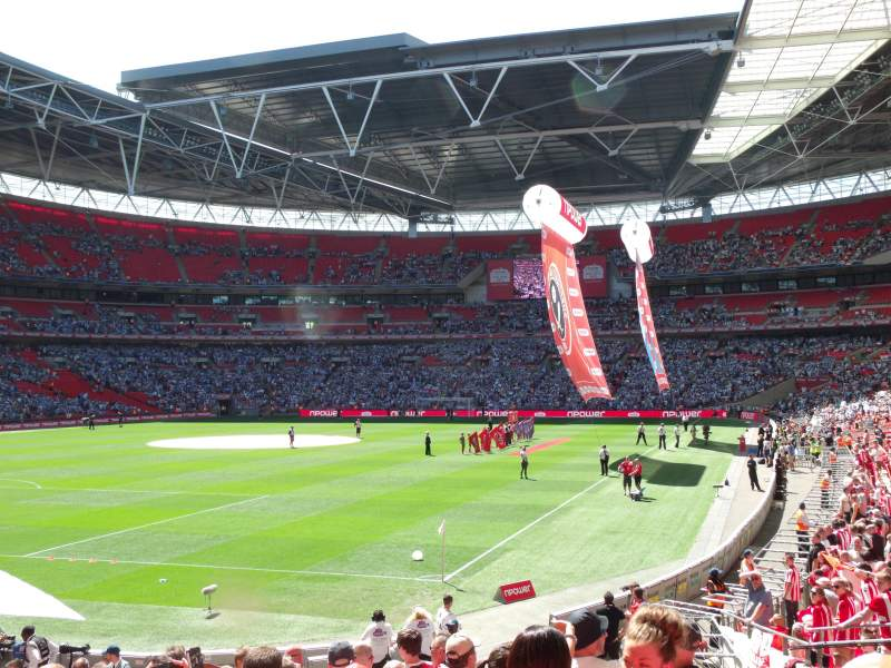 Wembley Stadium, section: 108, row: 21, seat: 157