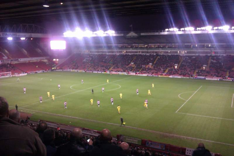 Seating view for Bramall Lane Section South Stand Gangway A Row PP Seat 14