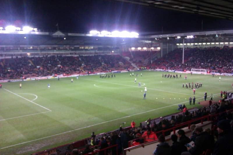 Bramall Lane, section: South Stand Gangway H, row: GG, seat: 193