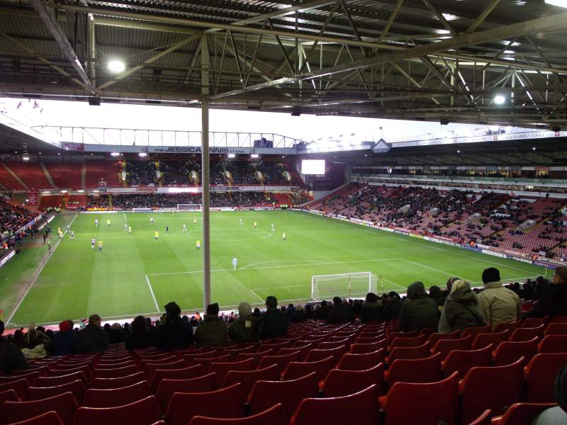 Bramall Lane, Section Kop Stand Gangway B, Row AF, Seat 56
