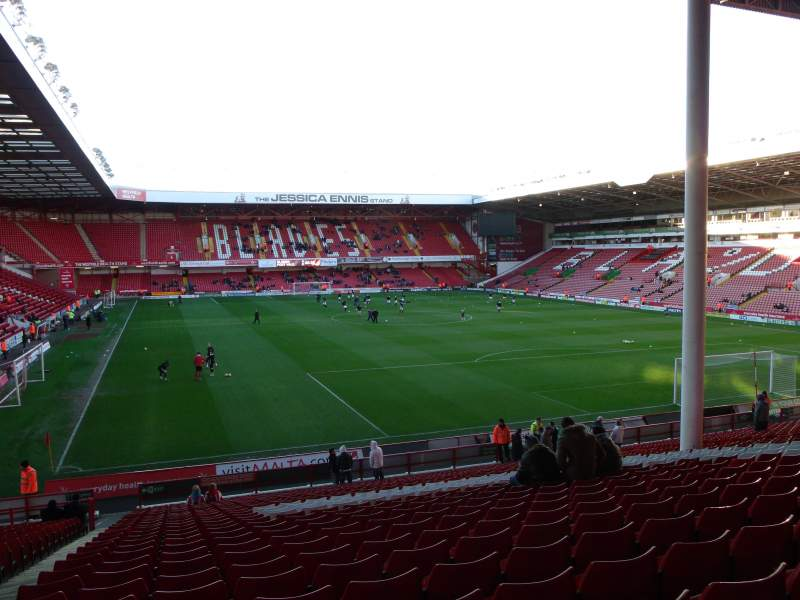 Seating view for Bramall Lane Section Kop Stand Gangway B Row DD Seat 45