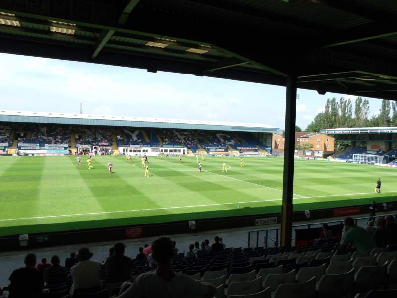 Seating view for Gigg Lane Section South Stand Row T Seat 54
