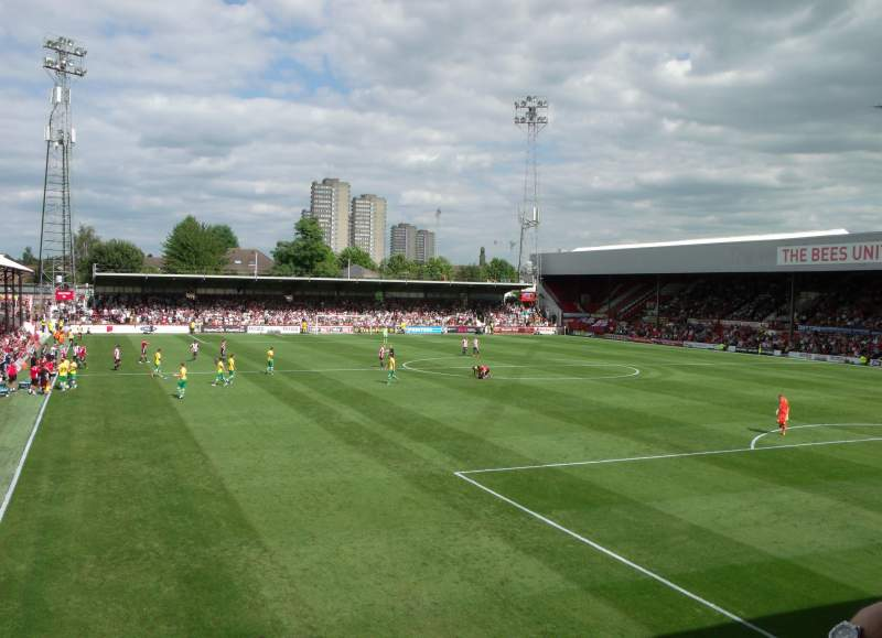 Seating view for Griffin Park Section Brook Road E Row B Seat 101
