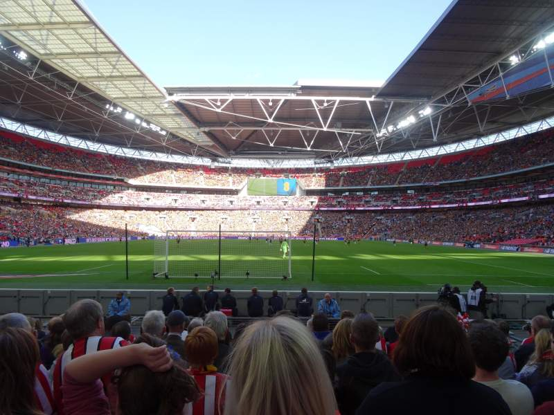 Seating view for Wembley Stadium Section 133 Row 9 Seat 314