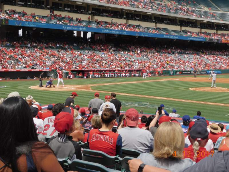 Seating view for Angel Stadium Section F125 Row R Seat 11