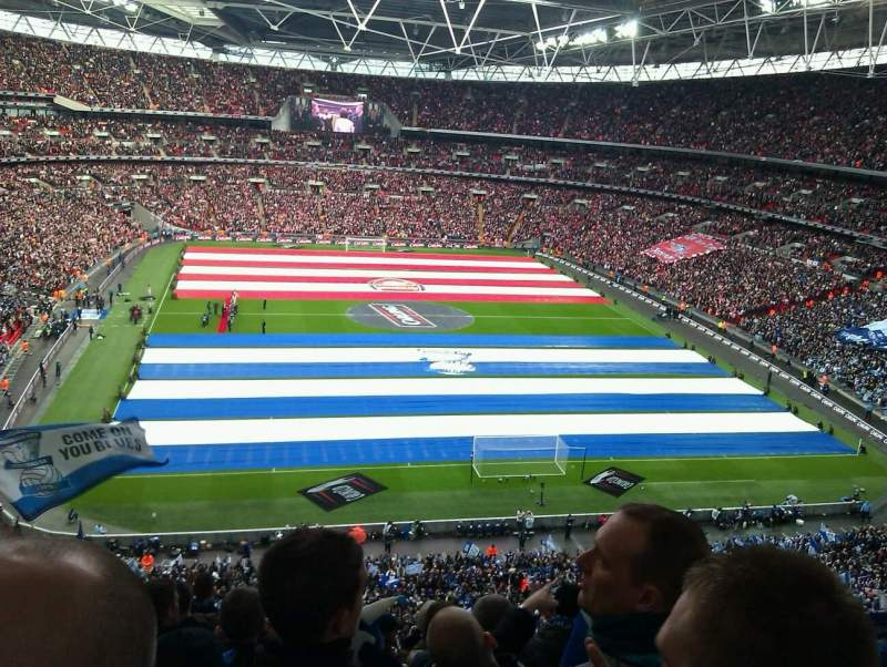 Wembley stadium section 513 home of england national for Home zone wallpaper birmingham