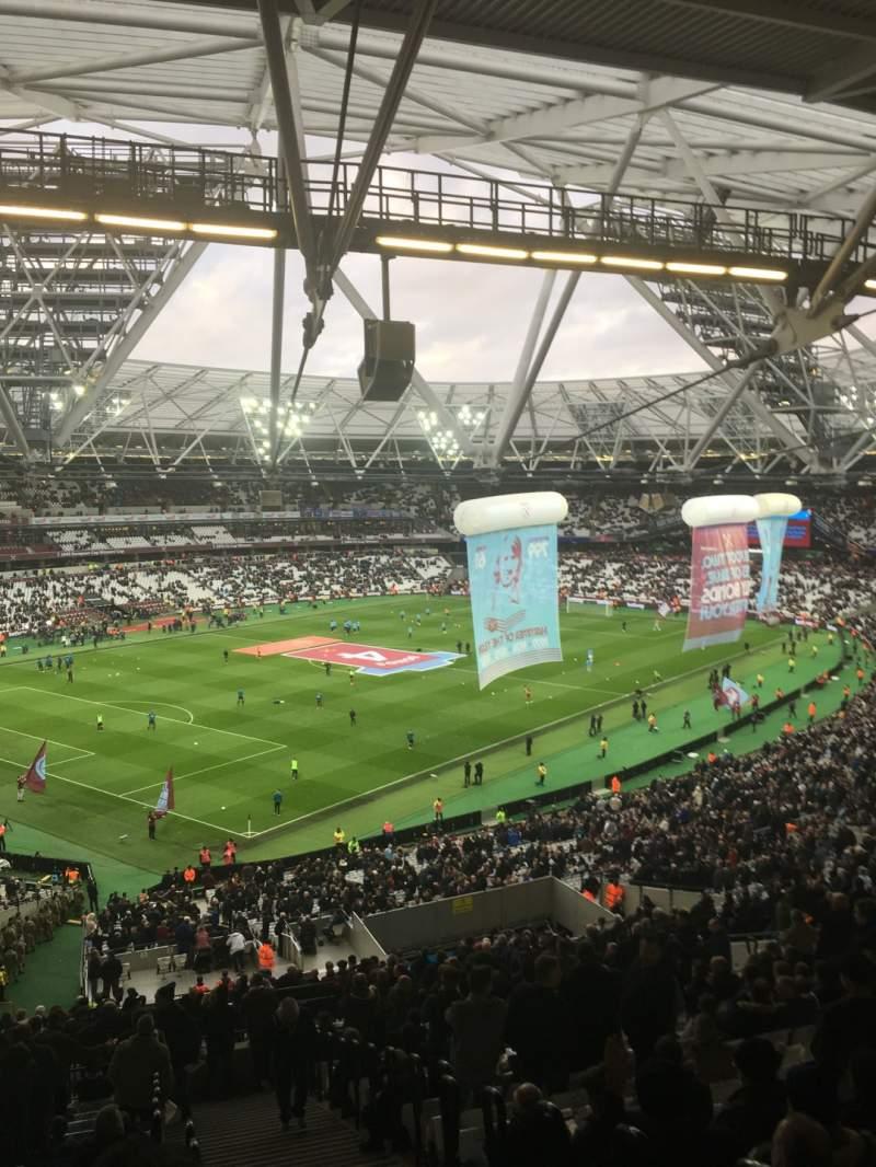 London Stadium, section 229, row 61 - West Ham United ...