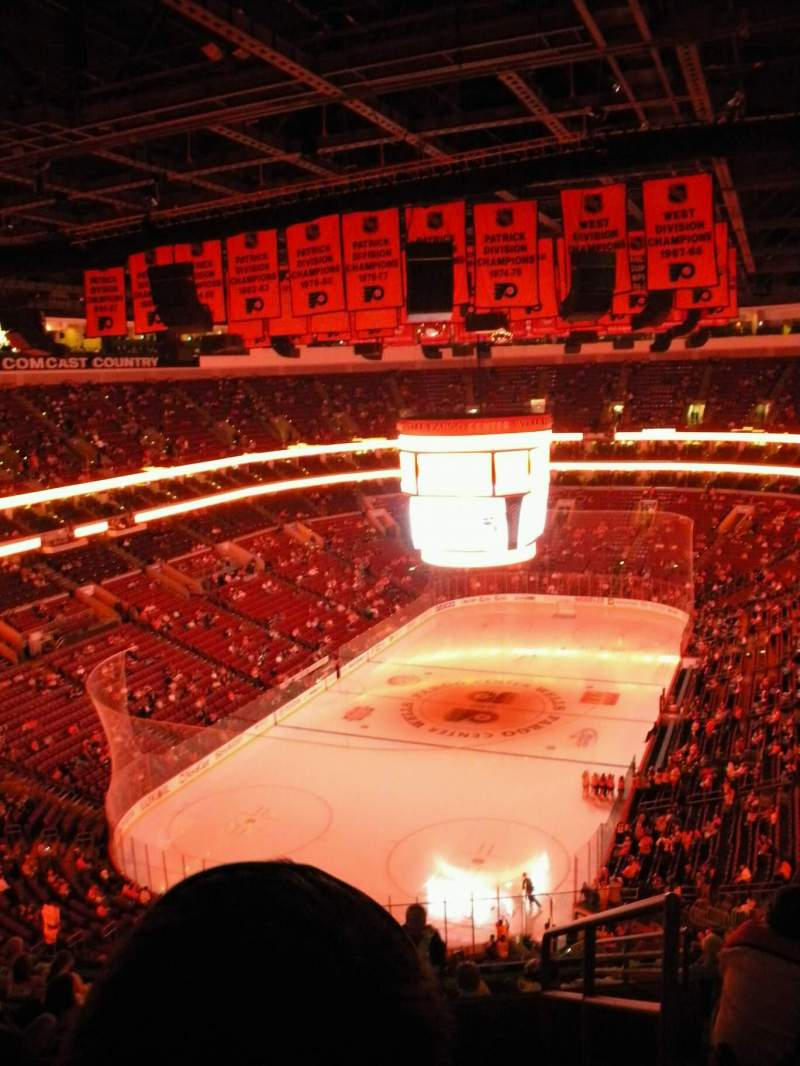 Seating view for Wells Fargo Center Section 109 Row 12 Seat 8