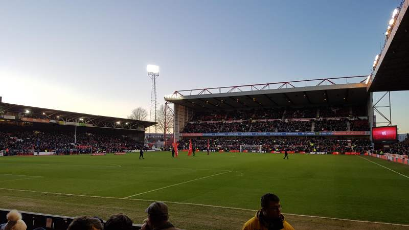 City Ground, section: W2, row: D, seat: 85