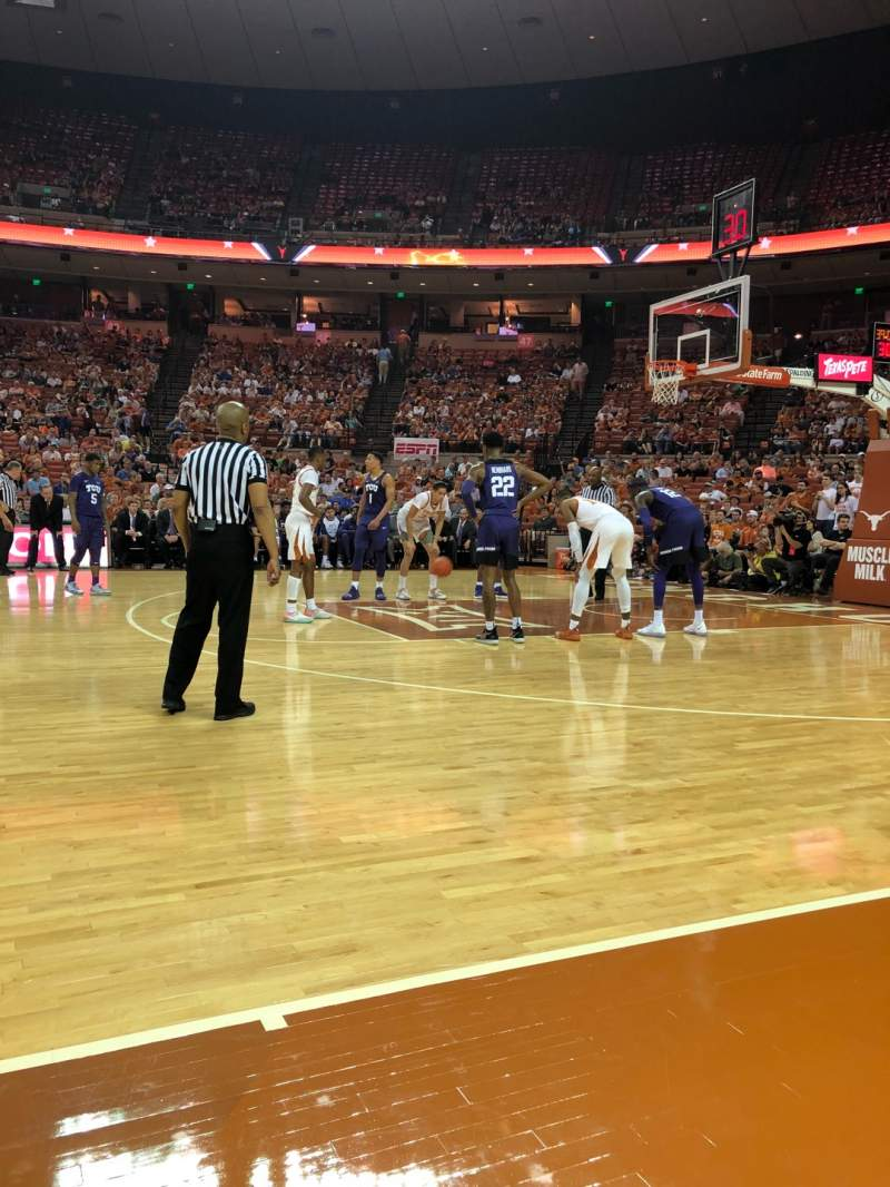 Seating view for Frank Erwin Center Section COURT Row 1