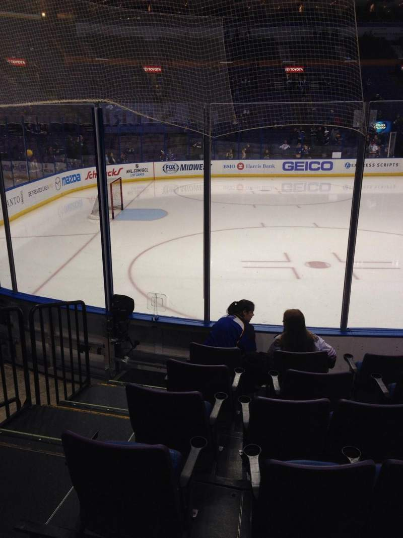 Seating view for Scottrade Center Section 118 Row G Seat 14