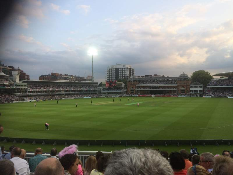 Seating view for Lord's Cricket Ground Section Crompton Upper Stand Block 17 Row J Seat 87