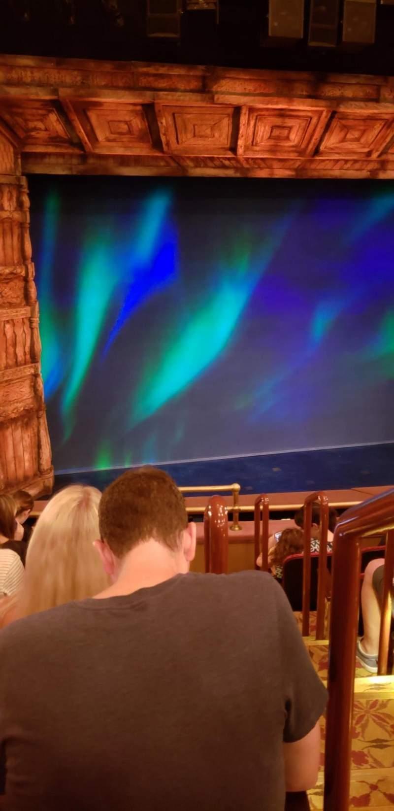 St. James Theatre, section: Mezzanine, row: F, seat: 1