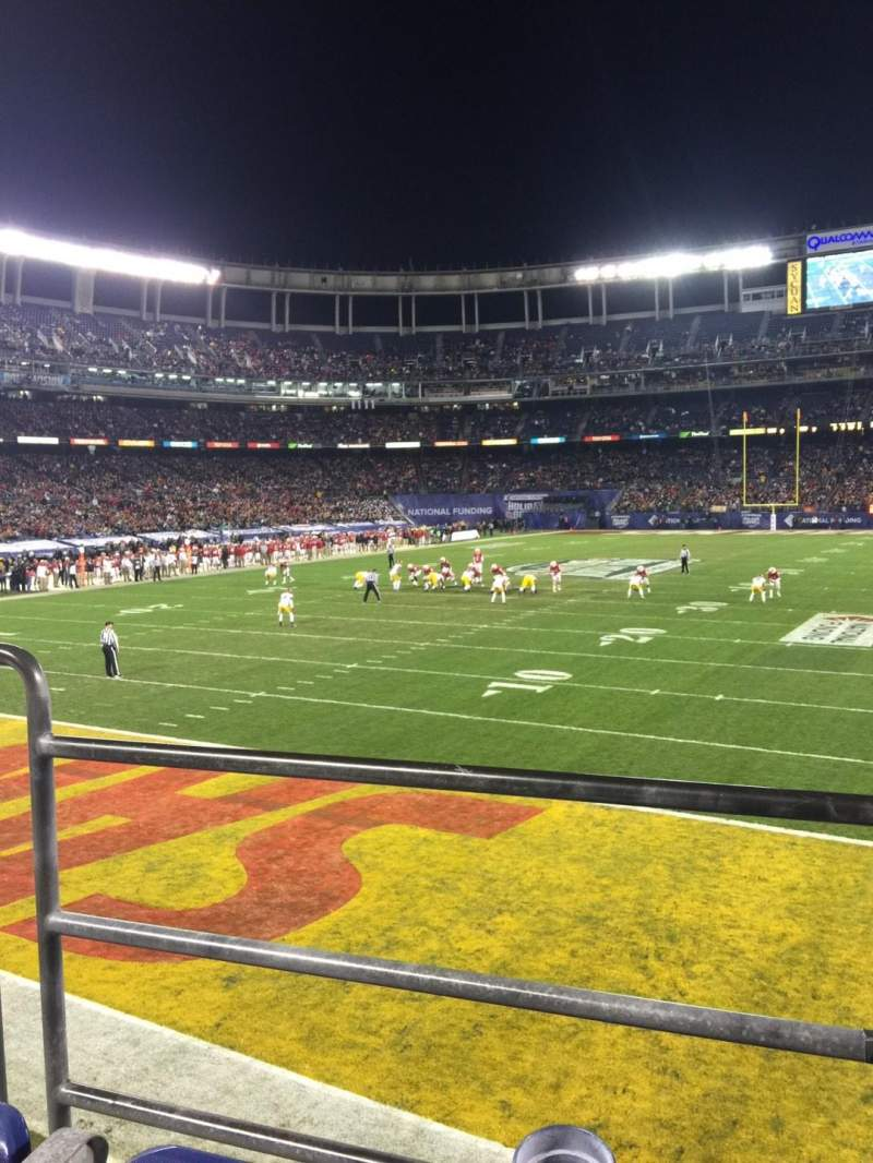 Seating view for Qualcomm Stadium Section P55 Row B Seat 3