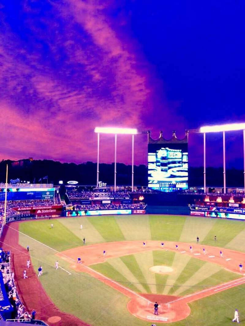 Seating view for Kauffman Stadium Section 421 Row JJ Seat 8
