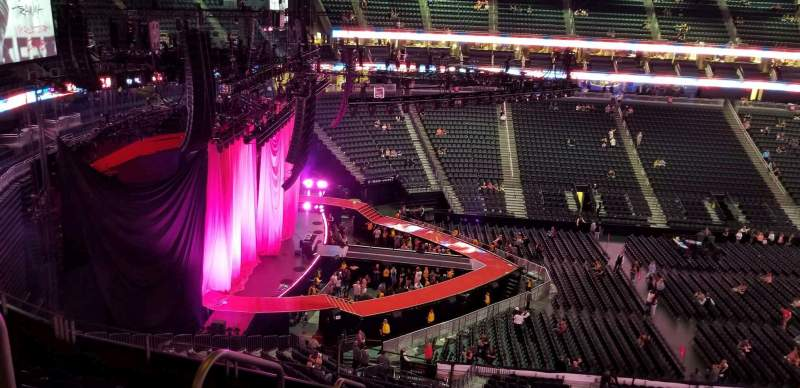 T Mobile Arena Section 203 Row G Seat 2 P Nk Tour