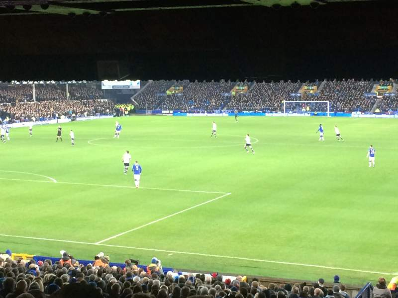 Seating view for Goodison Park Section GT1 Row PP Seat 26