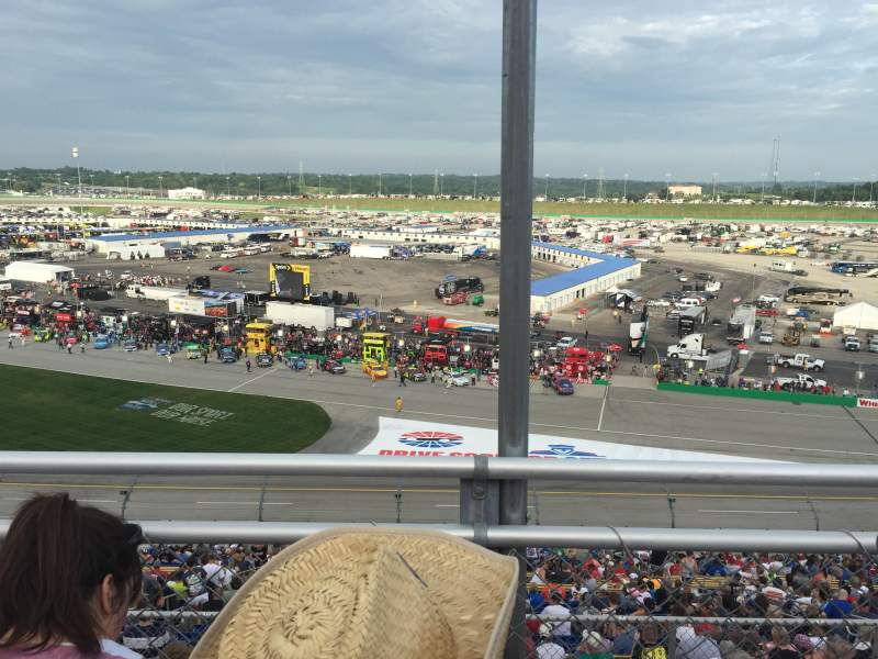 Seating view for Kentucky Speedway Section KYTI Row 2 Seat 25