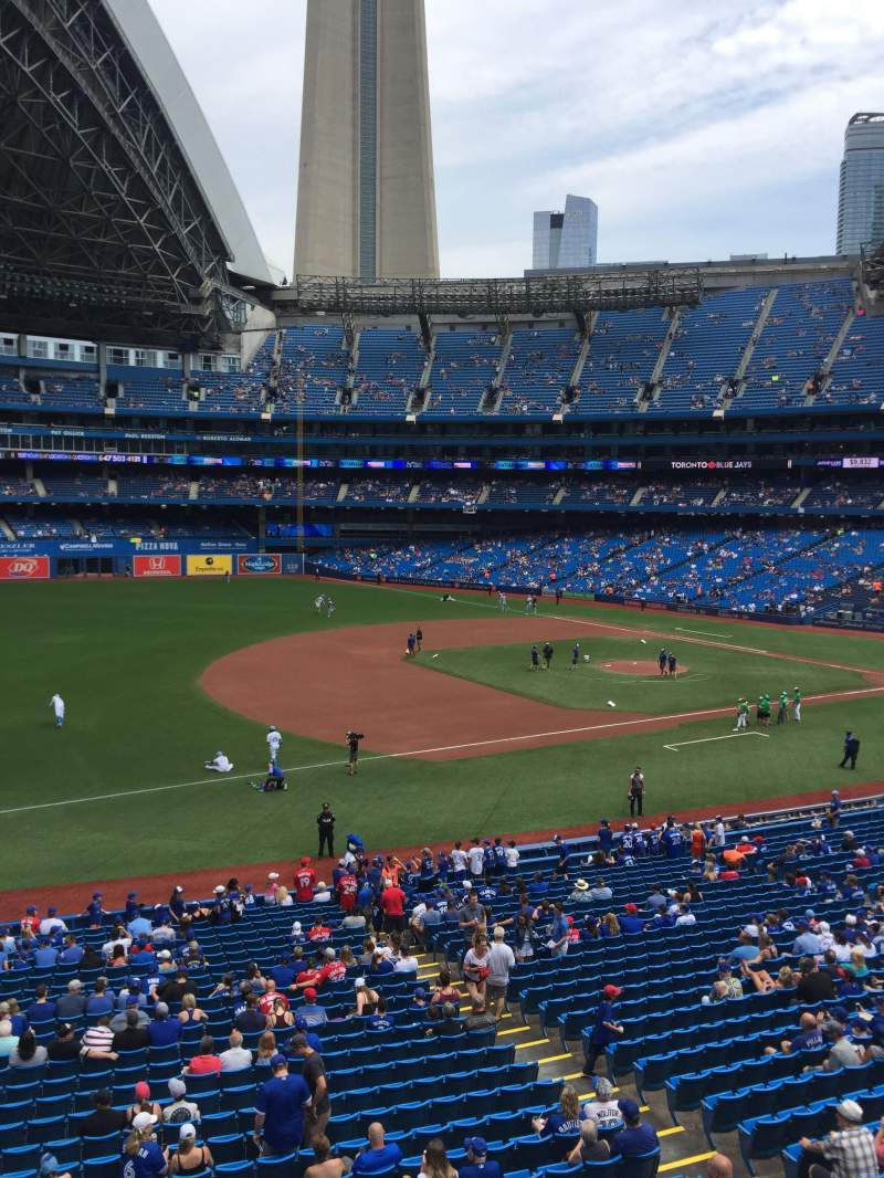 Seating view for Rogers Centre Section 233L Row 1 Seat 105