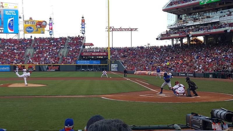 Seating view for Great American Ball Park Section 119A Row J Seat 1