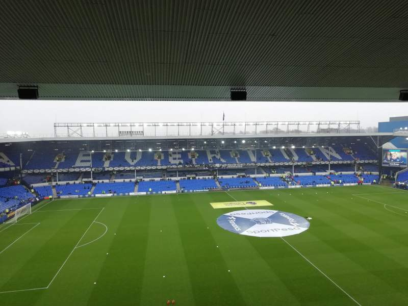 Seating view for Goodison Park Section TB1 Row E Seat 55