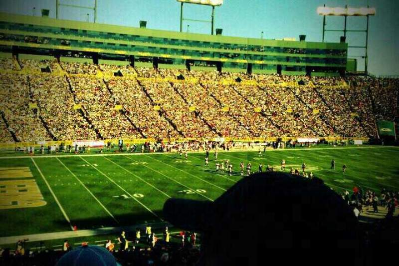 Seating view for Lambeau Field Section 112 Row 45 Seat 23