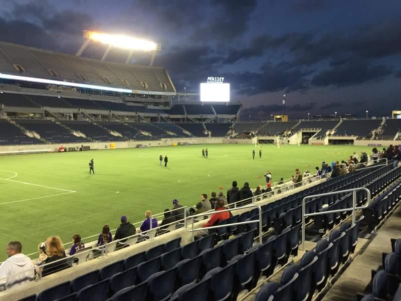 Camping World Stadium, section: 113, row: K, seat: 12