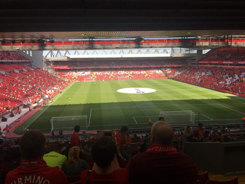 Seating view for Anfield Section 304 Row 58 Seat 0145