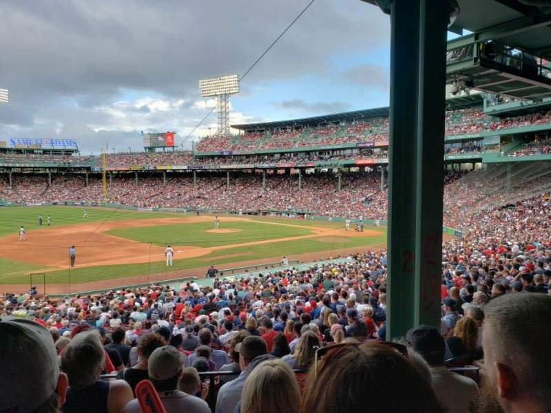 Seating view for Fenway Park Section Grandstand 29 Row 5 Seat 4